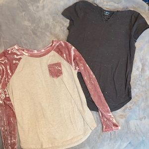 2 Justice Girls Size 10/12 Tops
